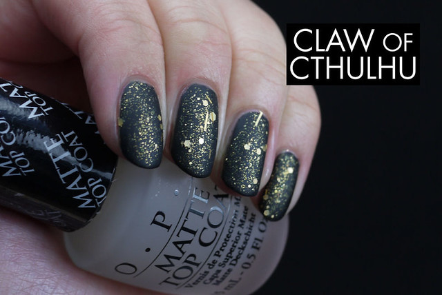 Rainbow Honey Costa Del Sol Swatch (Over OPI Black Onyx with OPI Matte Top Coat)