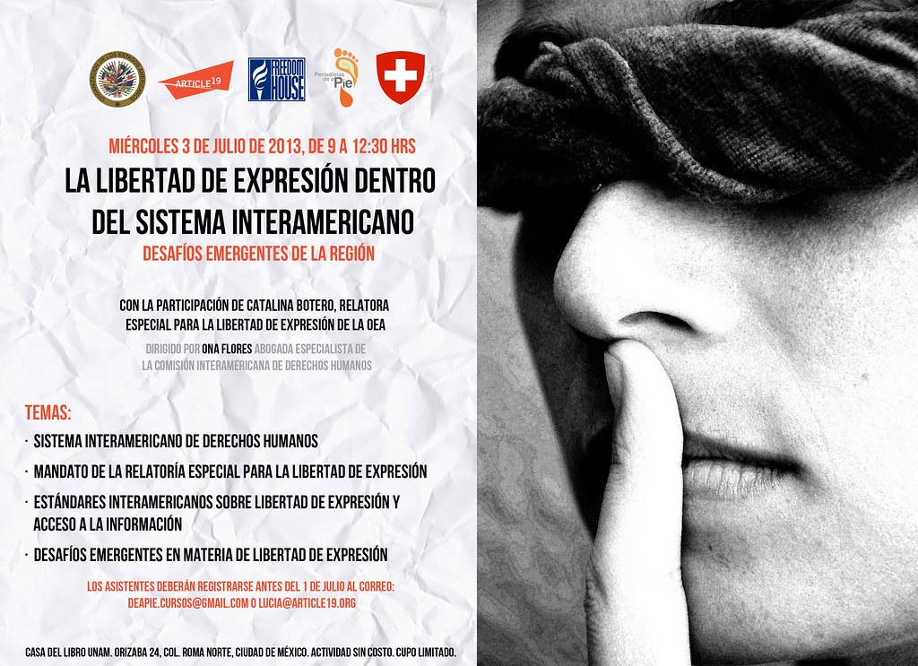 Foro La libertad de expresión dentro del Sistema Ineramericano