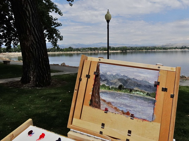 Painting at Lake Loveland