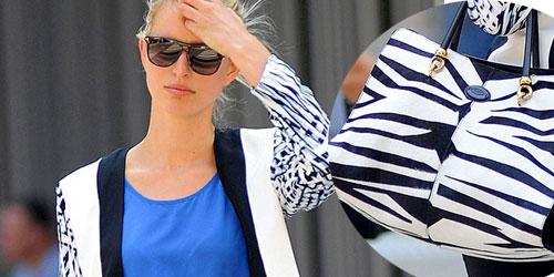 Karolina Kurkova step-out  wearing colour-block
