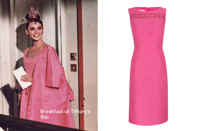Breakfast At Tiffany's - Jacques Vert Shimmer Shift Dress, Fuchsia