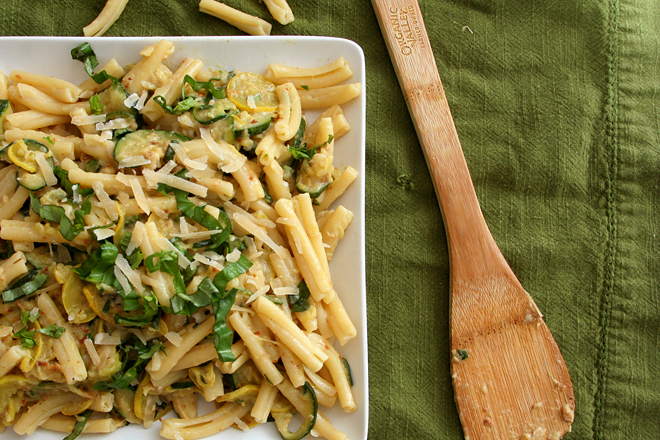 pasta with zucchini cream sauce 6