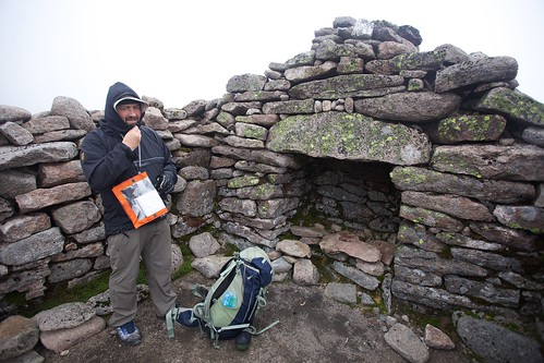 Alan Callow at Ben Macdui Summit Shelter