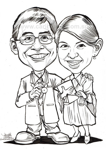 Aviation doctor and lawyer caricatures