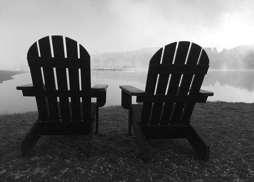 autumn newyork chairs mirrorlake upstate adirondacks adk lakeplacid iphone5s