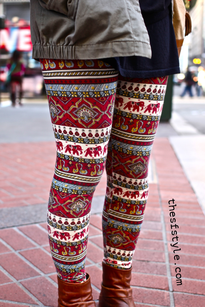 indian print leggings, thesfstyle, STREETFASHIONSTYLE, street fashion style, san francisco fashion blog,