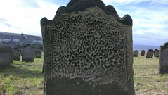 Sandblasted Headstone in Whitby Cemetery