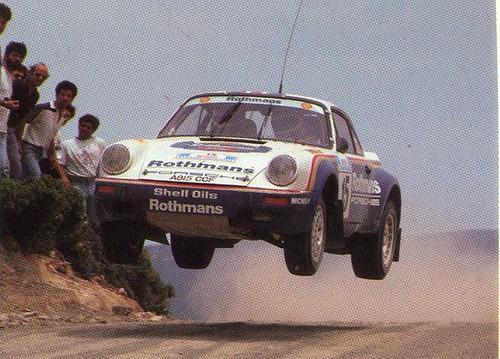 saeed alhajri Rothmans Rally Team , 4th place in Acropolis rally 1986 Porsche911sc