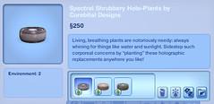 Spectral Shrubbery Holo-Plants by Corebital Designs