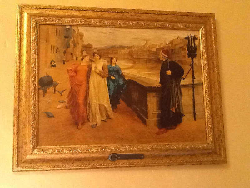 Dante and Beatrice by H. Holiday at Hotel Santa Croce