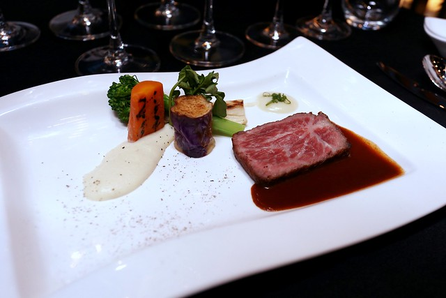Japanese Premium Wagyu Beef served Wellington Style, Sauce de Bouef