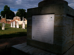 Cenotaph honoring John Quincy Adams at the Congressional Cemetery.