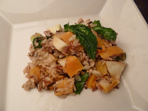 Harvest Wild Rice with Butternut Squash, Kale & Apples