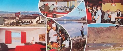 bar postcard lounge motel chef buffet 1960s slotmachines restaurantinterior motelinterior