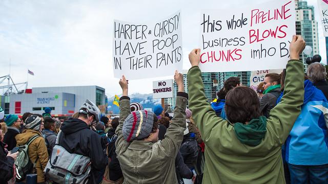 pipeline protest in Canada