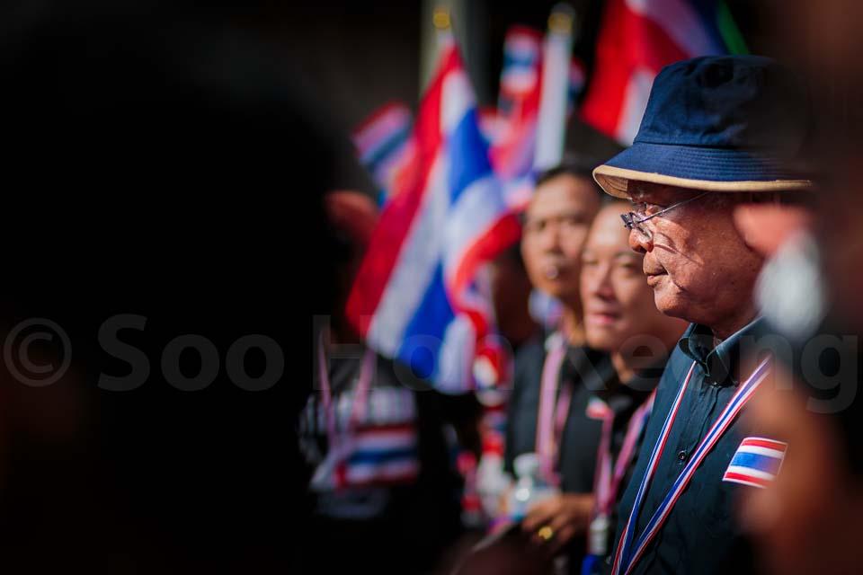 Khun Suthep Thaugsuban Stares Ahead