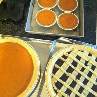 Pie!! I have been cooking all day but everything is in containers for tomorrow.