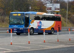 Stagecoach In Fife  Kirkcaldy For Leven X58  Volvo Plaxton Profile A90 Forth Bridge Toll South Queensferry...