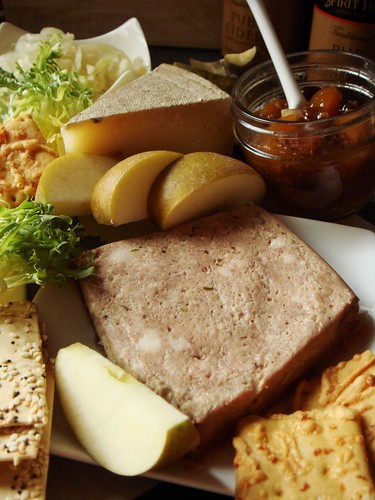 Ploughman's Platter For Two: Country Pate & Water Buffalo Cheese