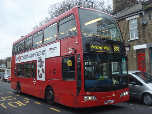 CT Plus EO1 on Route 388, Trowbridge Estate (Hackney Wick)