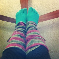 wool, knitting, green, sock, blue, pink,