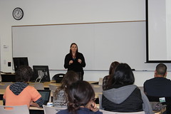 Katie Curnyn talking to RCC students 12/15/2013