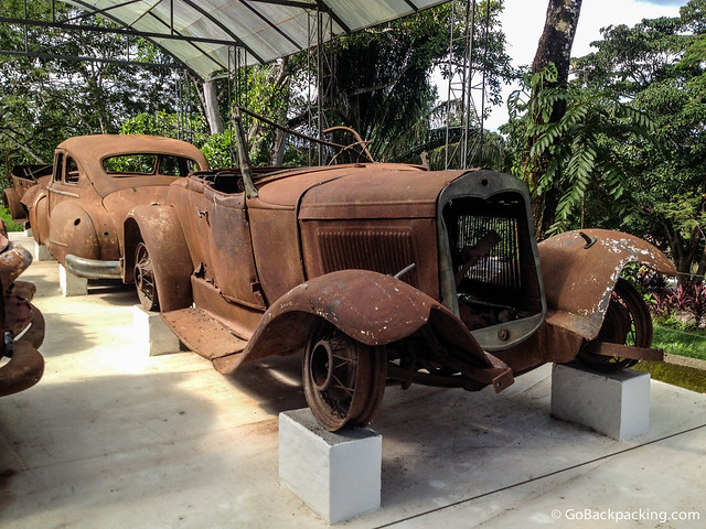Rusted antique cars