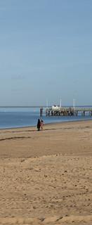 Bilde av Plage Thiers. winter beach photo sand image walk hiver picture sable promenade plage arcachon jetée thiers photopgraphy