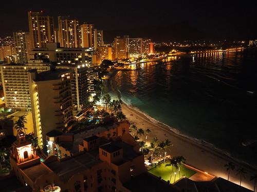 Waikiki Beach - 夜景