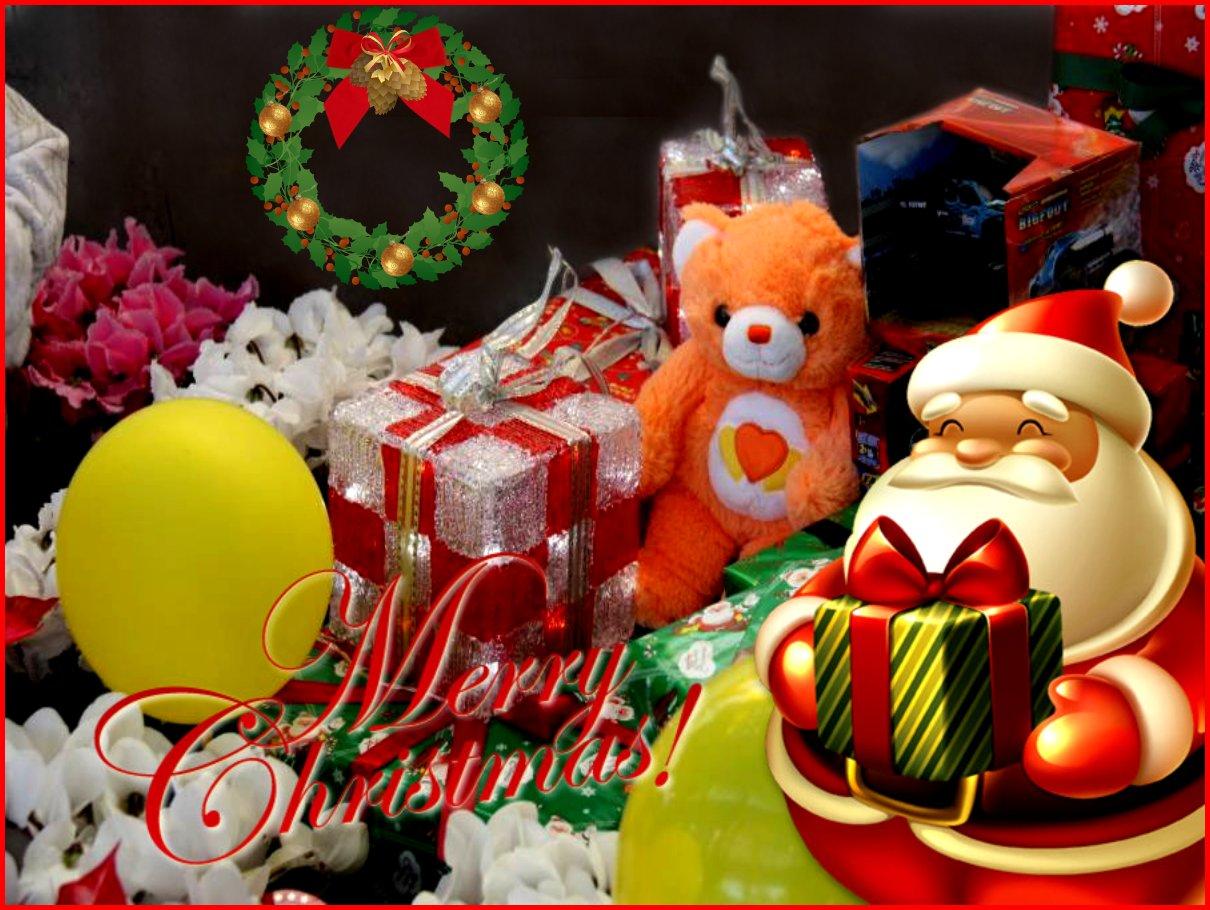 My Carebear loves Merry Christmas, too!