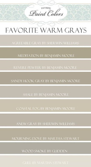 Pinterest Fans Like Warm Grays As Much I Do And This Is A Great Guide Via Favorite Paint Colors Blog