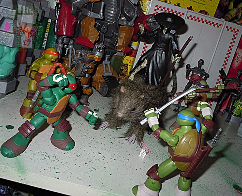 Nickelodeon TEENAGE MUTANT NINJA TURTLES :: THE RAT KING { tOkKustom vermin wash } xvi / RAT ATTACKS!! (( 2013 ))