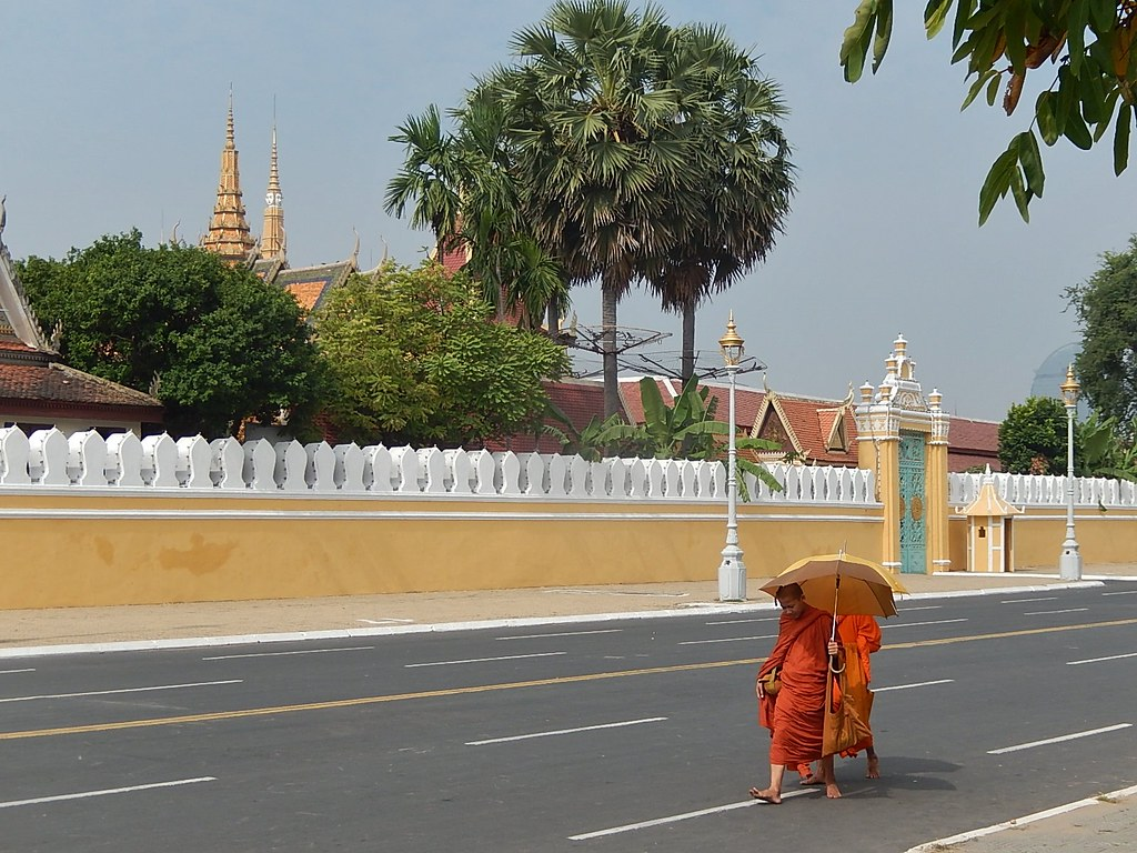 Barefooted Monks Out Walking