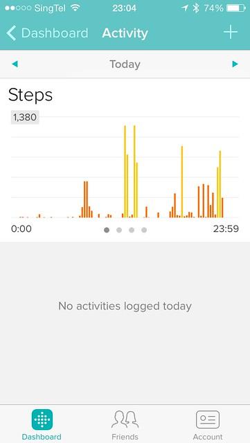 Fitbit iOS App - Steps