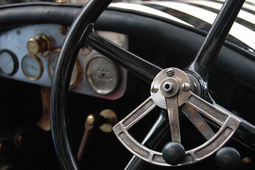 steering wheel from a classic race car show in Buenos Aires