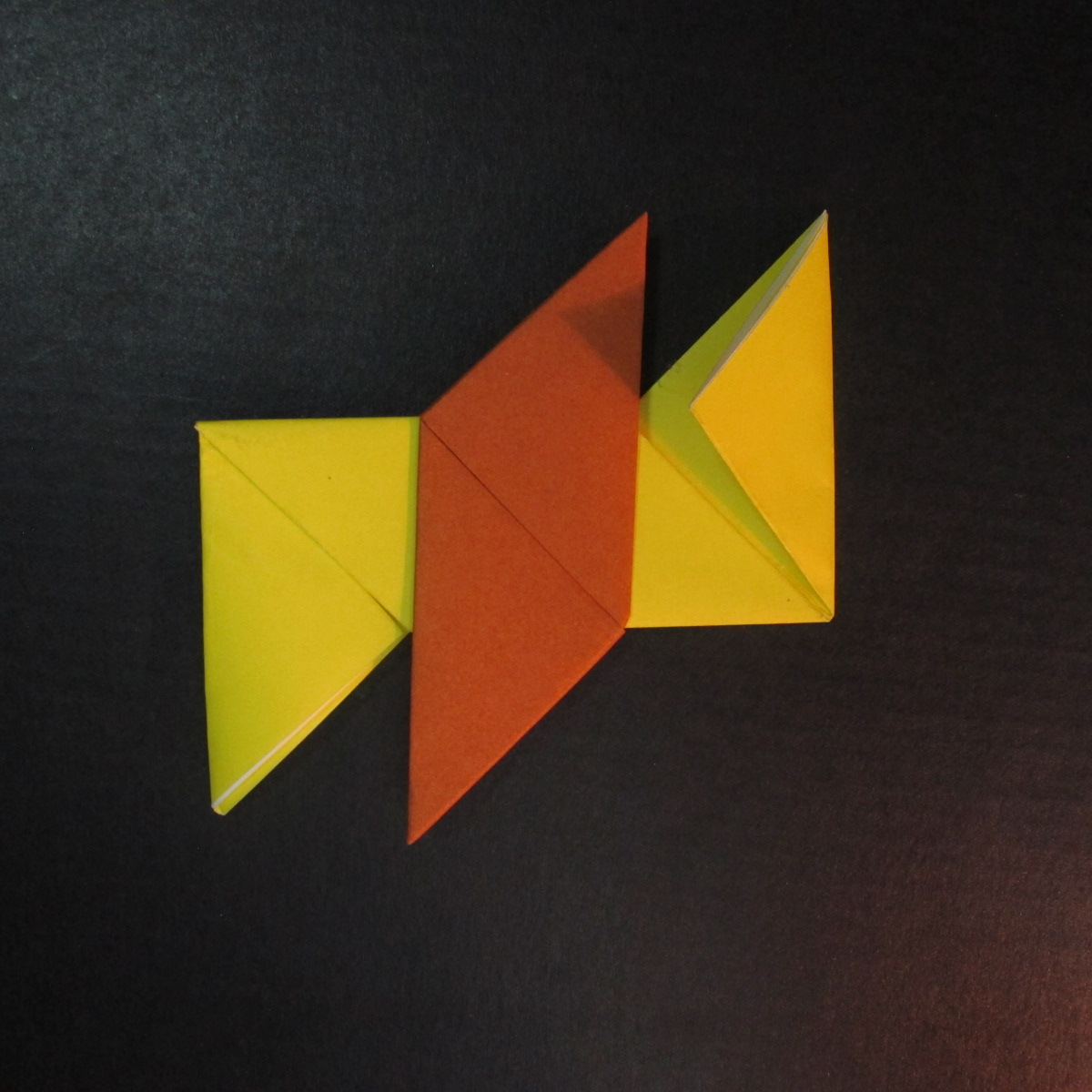 สอนวิธีพับกระดาษเป็นดาวกระจายนินจา (Shuriken Origami) - 014