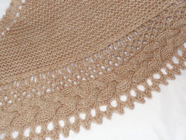 Knitting Edges Together : Stitched together cosy shawl knitting