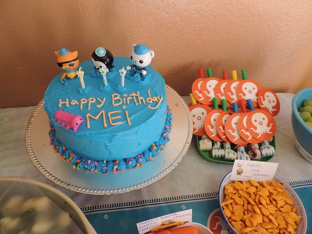 Orange Creamsicle Octonauts Birthday Cake