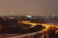 Snow night blur