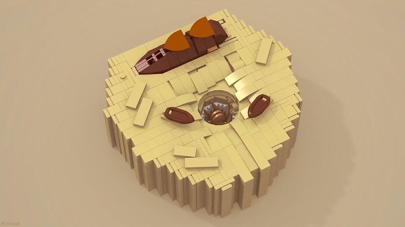 MOC] The Tiny Pit of Carkoon - LEGO Star Wars - Eurobricks