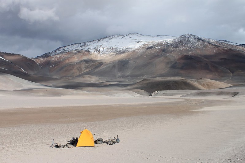 Camp by the 'road', near Corona del Inca