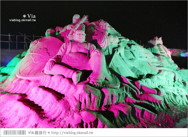 【2014台灣燈會在南投】南投沙雕燈會~夜間點燈好浪漫!還有精彩光雕秀13