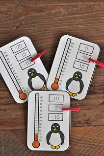 Clip cards penguins temperature
