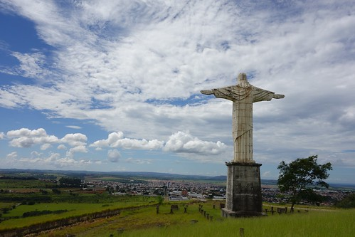 Statue of Christ in city of Patrocinio, Brasil