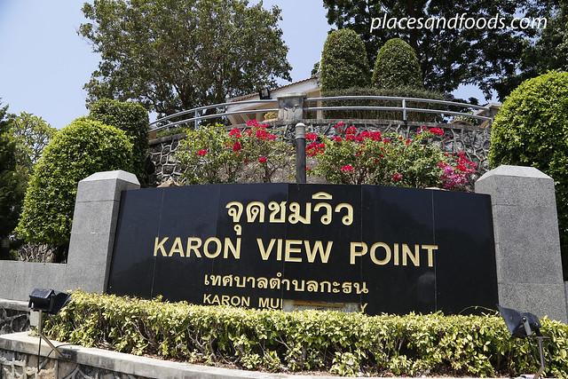 karon view point sign