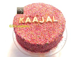 Cake Images With Name Ajay : Kajol Wedding Reception Cake Ideas and Designs