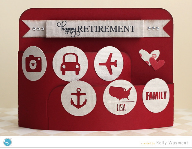 Retirement Bendy Card by Kelly Wayment