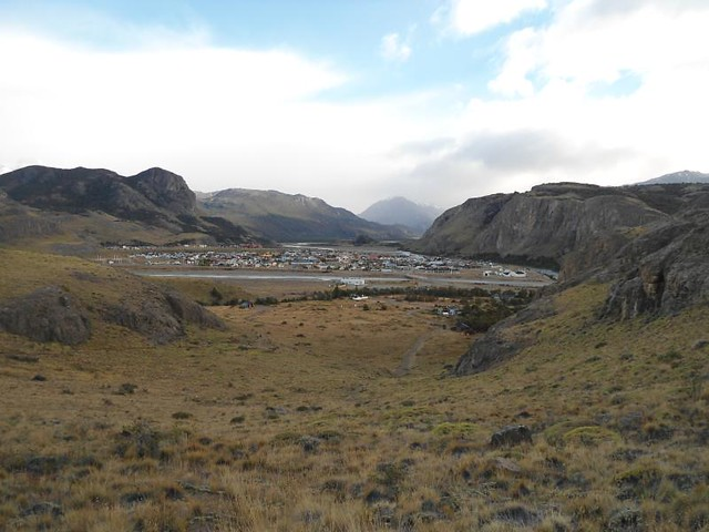 Vista al pueblo de El Chaltén desde el Mirador Cóndor