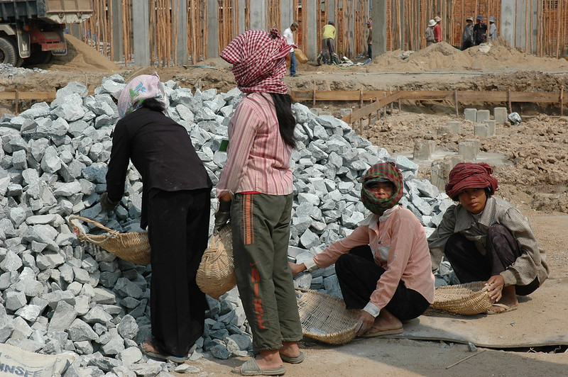 Women at land share site, Cambodia