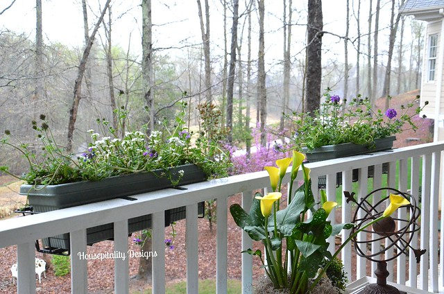 Upper Back Porch for Spring 2014
